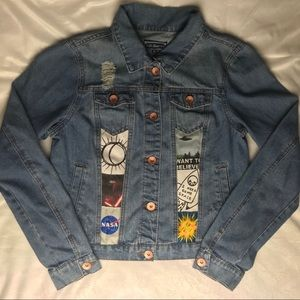 Space Themed Jean Jacket!